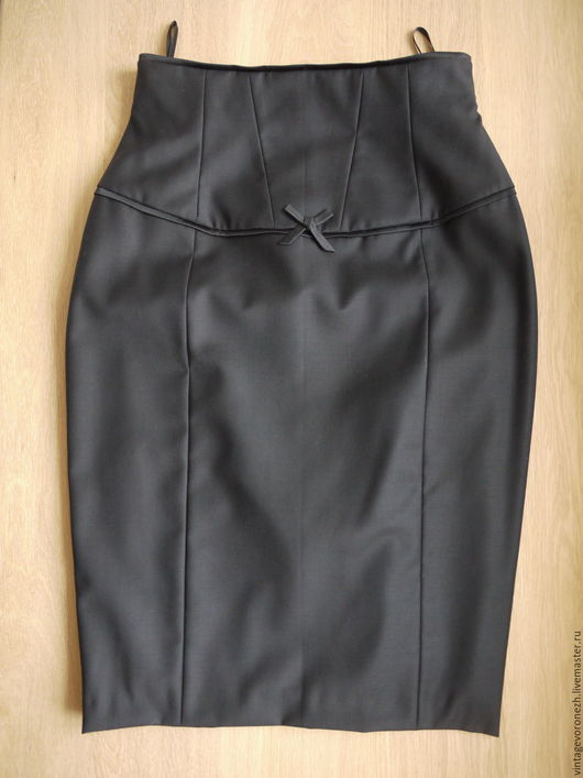 Шитье ручной работы. Ярмарка Мастеров - ручная работа. Купить юбка карандаш с завышенной талией. Handmade. Юбка карандаш