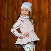 Работы для детей, ручной работы. Ярмарка Мастеров - ручная работа Стеганая жилетка для девочки. Handmade.