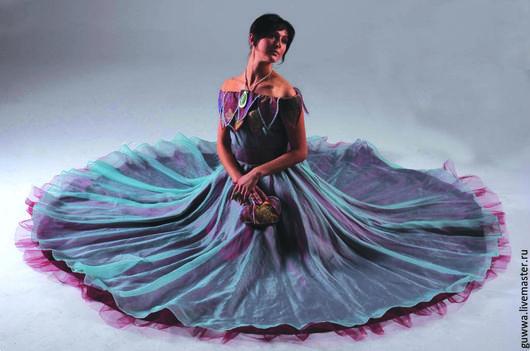 Платья ручной работы. Ярмарка Мастеров - ручная работа. Купить Бальное платье. Handmade. Бирюзовый, однотонный