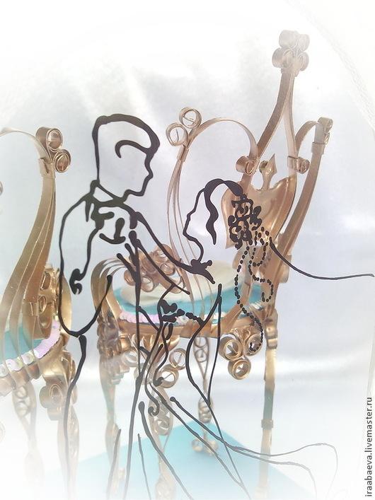 Свадебные аксессуары ручной работы. Ярмарка Мастеров - ручная работа. Купить Подушечка для колец  В ритме вальса. Handmade. Бирюзовый