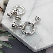 Материалы для творчества handmade. Livemaster - original item Lock round 16 mm (ring) rhodium plated (4898). Handmade.
