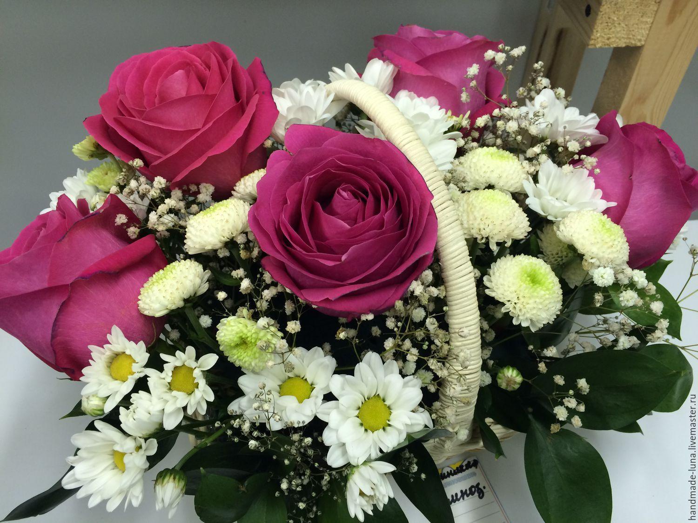 Букет корзина из роз и хризантем фото, купить в интернет магазине цветы орхидею