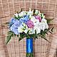 Свадебные цветы ручной работы. Ярмарка Мастеров - ручная работа. Купить Букет невесты / Свадебный букет. Handmade. Голубой