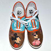 Обувь ручной работы. Ярмарка Мастеров - ручная работа Кеды Микки Маус. Handmade.