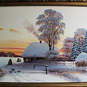 Картины и панно ручной работы. Ярмарка Мастеров - ручная работа Васина зимка. Handmade.