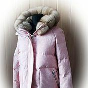 Одежда handmade. Livemaster - original item Jacket padding polyester fabrics with fur of the marten. Handmade.