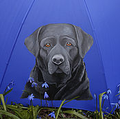 Аксессуары ручной работы. Ярмарка Мастеров - ручная работа зонт Черный пёс. Handmade.