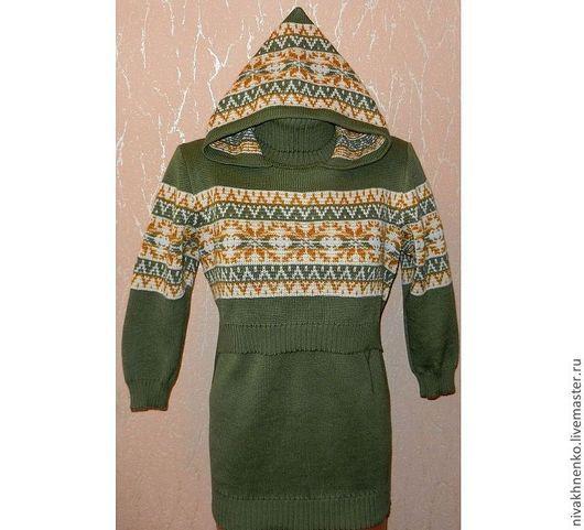 Для будущих и молодых мам ручной работы. Ярмарка Мастеров - ручная работа. Купить Вязаный свитер для кормления с капюшоном ХЛОПОК. Handmade.