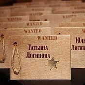 Свадебный салон ручной работы. Ярмарка Мастеров - ручная работа Рассадочные карточки стиле Western. Handmade.