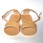 Обувь ручной работы. Ярмарка Мастеров - ручная работа Кожаные сандалии с пяточкой. Handmade.