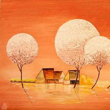 Картины и панно ручной работы. Ярмарка Мастеров - ручная работа Жизнь в розовом цвете. Handmade.