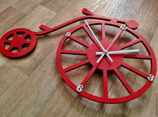 """Часы для дома ручной работы. Ярмарка Мастеров - ручная работа. Купить Настенные часы """"Старинный велосипед"""". Handmade. Комбинированный"""