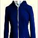 Верхняя одежда ручной работы. Ярмарка Мастеров - ручная работа. Купить Синяя куртка. Handmade. Куртка, куртка женская, однотонный