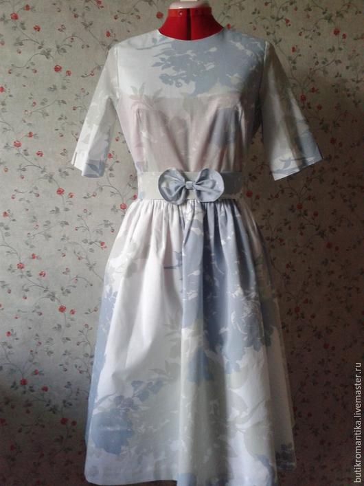 Платья ручной работы. Ярмарка Мастеров - ручная работа. Купить Платье - Белая ночь (миди). Handmade. Белый, пышная юбка