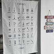 Материалы для творчества ручной работы. Ярмарка Мастеров - ручная работа Занавес-вывеска для столовой. Handmade.