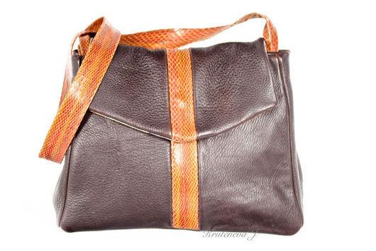 """Женские сумки ручной работы. Ярмарка Мастеров - ручная работа. Купить Сумка """"Лорелея"""" коричневая. Handmade. Коричневый, Кожаная сумка"""