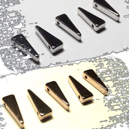 Для украшений ручной работы. Ярмарка Мастеров - ручная работа. Купить Подвеска 13,3:4,5 мм  Треугольник два покрытия. Handmade.