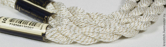 Вышивка ручной работы. Ярмарка Мастеров - ручная работа. Купить Anchor Pearl метал. белая (7001) нить для вышивания. Handmade.