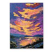 Картины и панно handmade. Livemaster - original item oil painting sunset. Handmade.