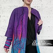 "Одежда ручной работы. Ярмарка Мастеров - ручная работа Валяное пальто ""Эпатаж"". Handmade."