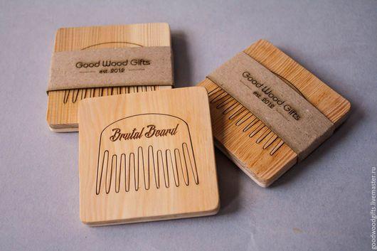 Гребни, расчески ручной работы. Ярмарка Мастеров - ручная работа. Купить Гребень для бороды. Handmade. Желтый, деревянный, воск