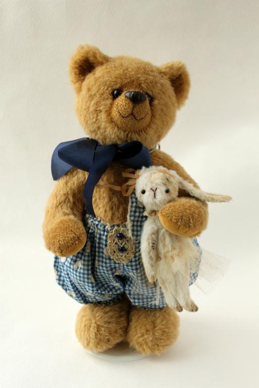Мишки Тедди ручной работы. Ярмарка Мастеров - ручная работа. Купить Мишка Тедди Мишка с Зайкой. Handmade. Коричневый