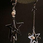 Серьги классические ручной работы. Ярмарка Мастеров - ручная работа Серьги звезды. Handmade.