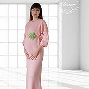 """Платье вязаное """"Для будущих мам"""""""