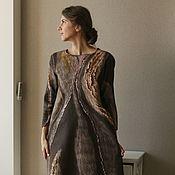 Одежда ручной работы. Ярмарка Мастеров - ручная работа Валяное платье Корица. Handmade.