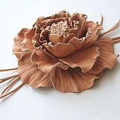 Украшения handmade. Livemaster - original item The colors of the skin. Decoration brooch pin PEACH ROSE. Handmade.