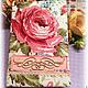 """Блокноты ручной работы. Ярмарка Мастеров - ручная работа. Купить Блокнот """"Роза"""". Handmade. Разноцветный, блокнот для записей, подарок, хлопок"""