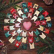 Подарки к праздникам handmade. Livemaster - original item Christmas tree garland wooden flags. Handmade.