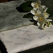"""Ткани ручной работы. Ярмарка Мастеров - ручная работа Японский хлопок  """"Ноты"""". Handmade."""