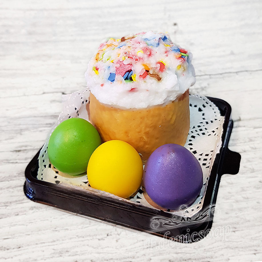 Handmade Easter soap Set gift for Easter eggs and cake, Soap, Moscow,  Фото №1