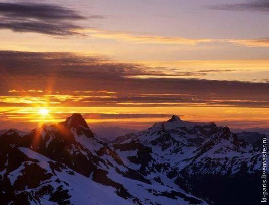 Алмазная картина `Закат в горах`