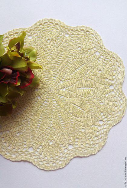 Текстиль, ковры ручной работы. Ярмарка Мастеров - ручная работа. Купить Салфетка кружевная Лимонный сорбет. Handmade. Лимонный