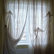 Для дома и интерьера handmade. Livemaster - original item The curtains in the bedroom mesh beige Ajoure. Handmade.