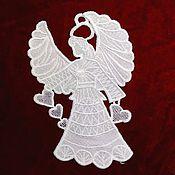 Материалы для творчества handmade. Livemaster - original item Lace, applique. Guardian Angel. Handmade.