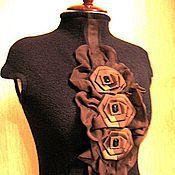 """Одежда ручной работы. Ярмарка Мастеров - ручная работа Платье тёплое """"Шоколад"""". Handmade."""