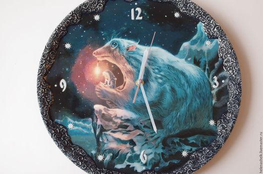 """Часы для дома ручной работы. Ярмарка Мастеров - ручная работа. Купить Часы настенные """" Волшебные миры"""". Handmade. фантастика"""