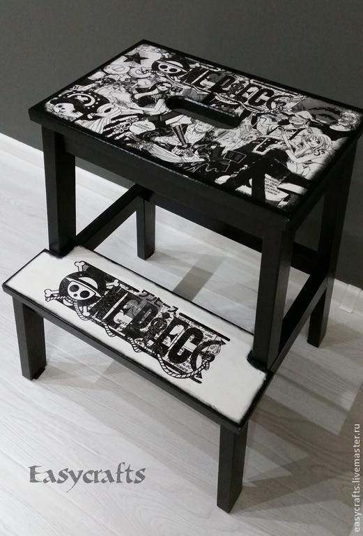 Мебель ручной работы. Ярмарка Мастеров - ручная работа. Купить Табурет стремянка (несколько видов). Handmade. Бежевый, столовый