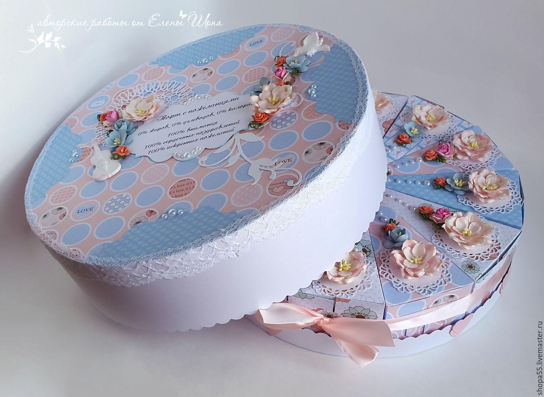 Торт с пожеланиями открытка