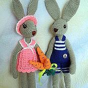 Куклы и игрушки ручной работы. Ярмарка Мастеров - ручная работа зайки-длинноножки. Handmade.