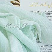 Аксессуары handmade. Livemaster - original item Scarves: Mint basic linen scarf