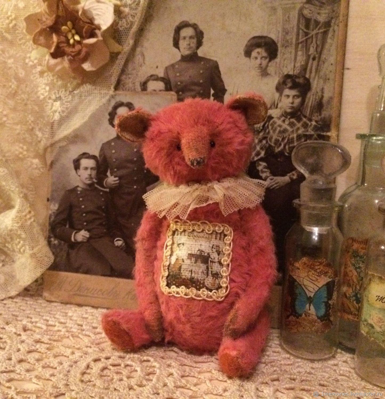 Клубничный медвежонок выкройка, Мягкие игрушки, Жуковский,  Фото №1