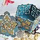 Шкатулки ручной работы. Шкатулка деревянная ажурная  Фирюзе. 'Волшебный Теремок'  Натали и Таня. Интернет-магазин Ярмарка Мастеров. Бирюзовый