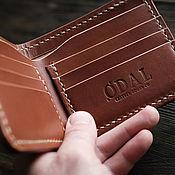 Сумки и аксессуары handmade. Livemaster - original item Men`s wallet purse BIFOLD brown. Handmade.