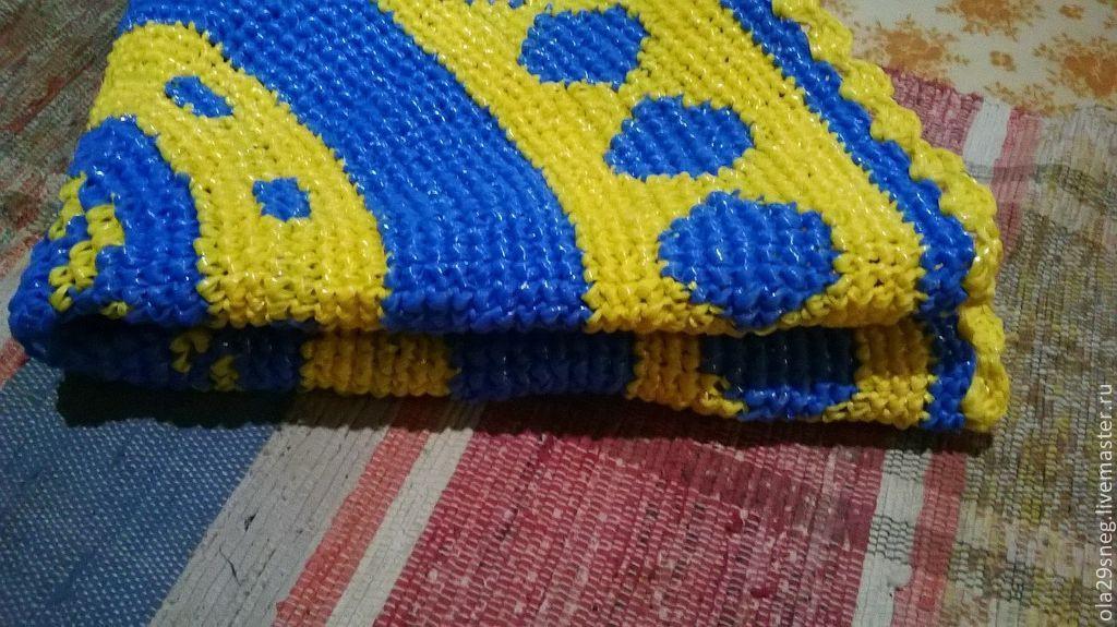 Как связать коврик из полипропиленовой нитки