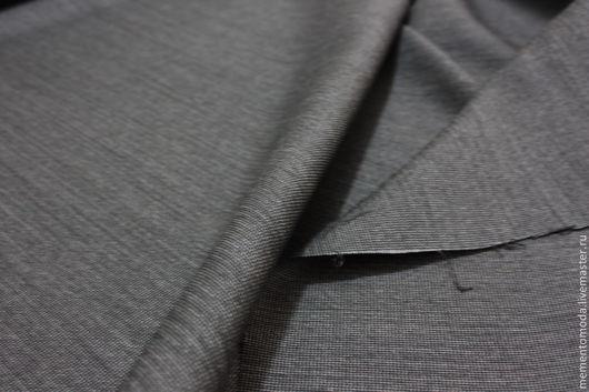 Шитье ручной работы. Ярмарка Мастеров - ручная работа. Купить Шерсть с эластаном костюмная темно-серая. Handmade. Темно-серый