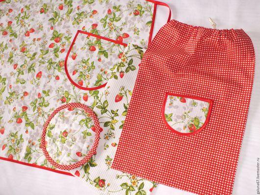 """Одежда для девочек, ручной работы. Ярмарка Мастеров - ручная работа. Купить """"Маминой Помощнице"""" комплект для девочки. Handmade. Фартук для девочки"""